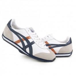 Pour Acheter YX2103 Soldes Asics California 713858 Chaussures Bleu foncé Brun Blanc Gris 38992467 Pas Cher
