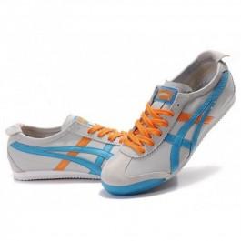 Pour Acheter TP9164 Soldes Asics Femmes Mexico 66 Gri1508s Bleu Orange 31074193 Pas Cher