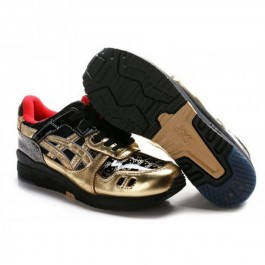 Pour Acheter NN7102 Soldes Asics Gel Lyte III Bonjour Kitty Chaussures Or Rouge Noir 312109254781 Pas Cher