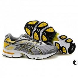 Pour Acheter QM11023903 Soldes Asics Gel Stratus 2.1 Chaussures Gris foncé Argent Jaune 05061440 Pas Cher