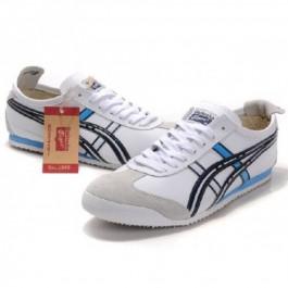Pour Acheter CZ0168 Soldes Asics Mexico 66 Chaussures Homme Blan1970c Noir Bleu 68264219 Pas Cher