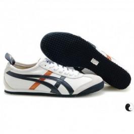 Pour Acheter VT8254 Solde1459s Asics Mexico 66 Chaussures Homme Blanc Noir Orange 19995506 Pas Cher