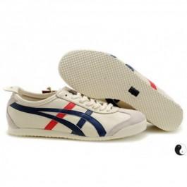 Pour Acheter GY7192 Soldes Asics Mexico 66 Chaussures Hommes Beige Rouge 1518Bleu 77698526 Pas Cher