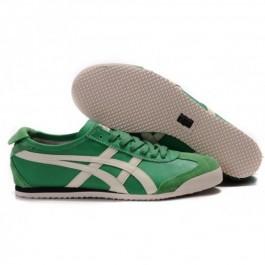 Pour Acheter ES4407 Soldes Asics Mexico 66 Chaussures Vert Blanc 541151153792 Pas Cher