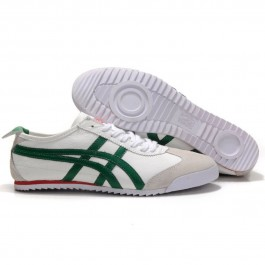 Pour Acheter KH5256 Soldes Asics Mexico 66 Deluxe Hom1249me vert blanc 00316062 Pas Cher