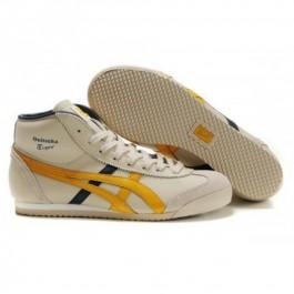 Pour Acheter VC6573 Soldes Asics Mexico 66 Mid Runner Chaussures Jaune N1263oir Beige 87657242 Pas Cher