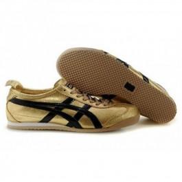 Pour Acheter RO7682 Soldes Asics Mexic1062o 66 pour femmes Chaussures Black Gold 12619234 Pas Cher