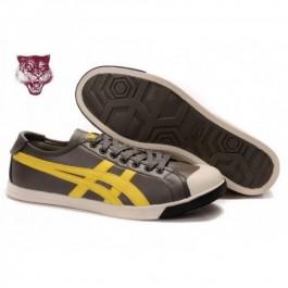 Pour Acheter LN8087 Soldes Asics Onitsuka Tiger Co1856olidge Lo Chaussures en cuir Jaune Noir Brown 97853561 Pas Cher