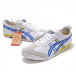 Pour Acheter GM0456 Soldes Asics Onitsuka Tiger Mens Mexico 66 Chaussures Blanc 1152Bleu 32737477 Pas Cher