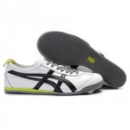 Pour Acheter JI6345 1065Soldes Asics Onitsuka Tiger Mexico 66 Chaussures Homme Blanc Noir Vert 51689264 Pas Cher