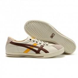 Pour Acheter HM0786 Soldes Asics Onitsuka Tiger Rotat1926ion 77 Blanc Jaune chocolat Chaussures 68167828 Pas Cher