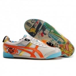 Pour Acheter QA1083 Soldes Asics Tokidoki Mex Lo Chaussures Beige Argent Orange pour Femmes 958861392844 Pas Cher