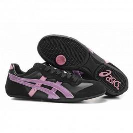 Pour Acheter YM9922 Soldes1477 Asics Whizzer Lo chaussures noires rose pourpre 38678165 Pas Cher