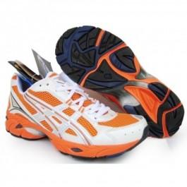 Pour Acheter SZ12308216 Chaussures Soldes Asics Gel DuoMax Orange Blanc 05347212 Pas Cher