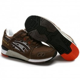 Pour Acheter JK0514 Chaussures Soldes Asics Gel Lyte III Noir Blanc Brown 397791198759 Pas Cher