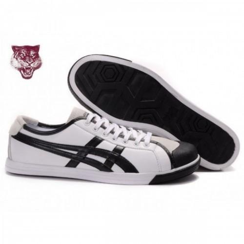 Pour Acheter ED2921 Soldes Asics Coolidge Lo1138 Chaussures en cuir Blanc Noir Beige 67218596 Pas Cher