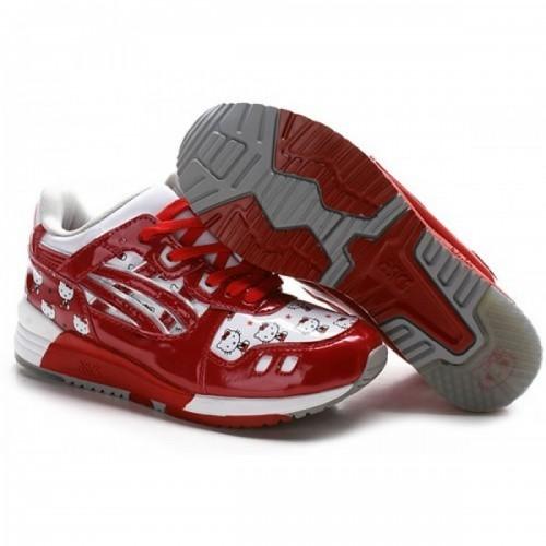 Pour Acheter XA5241 Soldes Asics Gel Lyte III Bonjour Kitty Cha1473ussures Blanc Rouge 59875757 Pas Cher
