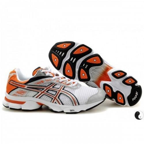 Pour Acheter U1709S7140 Soldes Asics Gel Stratus 2.1 Chaussures Orange Blanc Argent 20300143 Pas Cher
