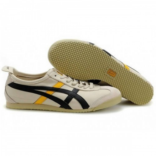 Pour Acheter WZ8546 Soldes Asics Mexico 66 Chaussures Beige 1800Noir Jaune Pour Femmes 38524752 Pas Cher