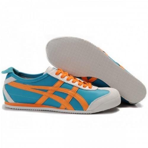 Pour Acheter QW9147 Soldes Asics Mexico 66 Chaussures Bleu Orange 934371195179 Pas Cher