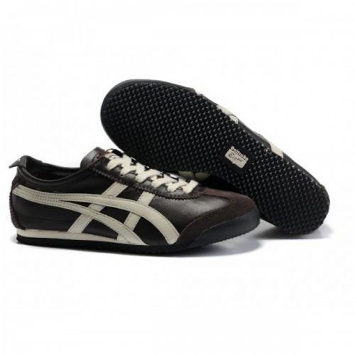 Pour Acheter FM3809 Soldes Asics Mexico 66 Hommes chaussures Brown Beige 729541560788 Pas Cher