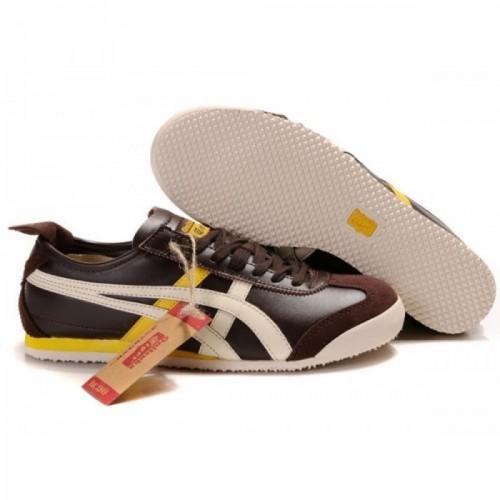 Pour Acheter NK4784 1783Soldes Asics Mexico 66 Lauta Chaussures Brown Jaune Beige 50453411 Pas Cher