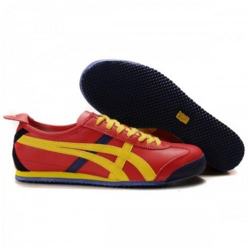 Pour Acheter OC51894153 Soldes Asics Mexico 66 Lauta Chaussures Rouge Bleu Jaune 59666892 Pas Cher