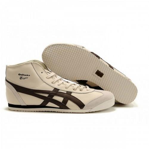 Pour Acheter TC2636 So1823ldes Asics Mexico 66 Mid Runner Chaussures Beige Brown Pour Femmes 05767768 Pas Cher