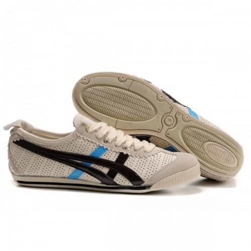 Pour Acheter RZ9773 Soldes Asics Mini Cooper Chaussures Beige Noir Bleu 154437318843 Pas Cher