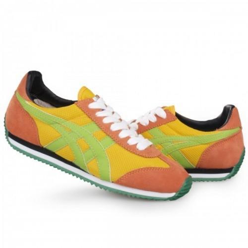 Pour Acheter YI4908 Sold1234es Asics Onitsuka Tiger California 78 Chaussures Orange Jaune Vert 30132551 Pas Cher