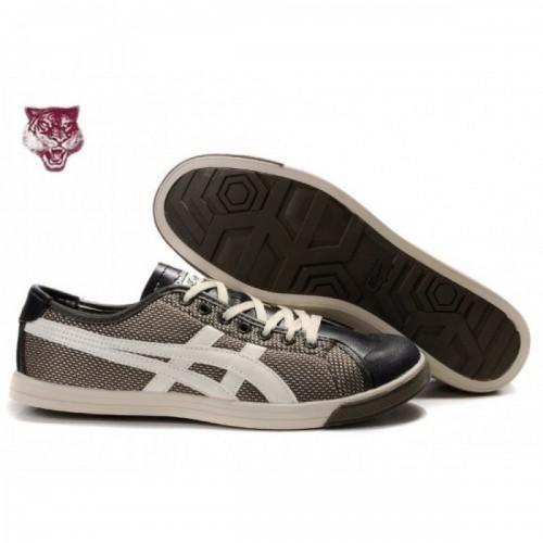 Pour Acheter OK9674 Soldes Asics Onitsuka Tiger Coolidge Lo Brown Blanc Noir Chaussure1750s 81644844 Pas Cher