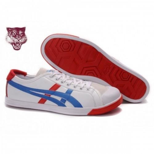 Pour Acheter DU2611 Soldes Asics Onitsuka Tiger Coolidge Lo Cuir Blanc Bleu Beige 046114161323 Pas Cher