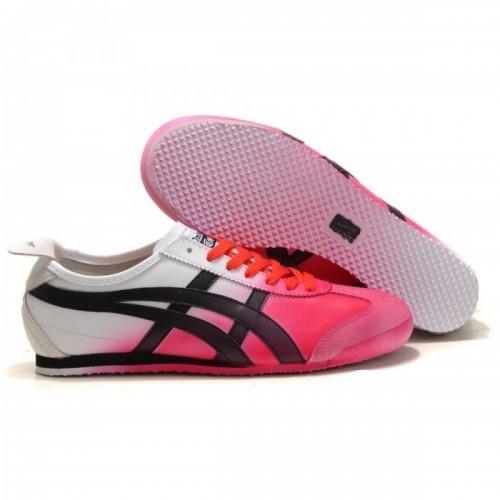 Pour Acheter LX79651628 Soldes Asics Onitsuka Tiger Kanuchi Blanc Rose Noir Chaussures 14771270 Pas Cher