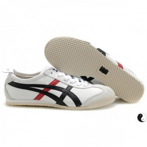 Pour Acheter JG0366 Soldes Asics Onitsuka Tiger Mexico 66 Blanc Noir Rouge vif1832 33063665 Pas Cher