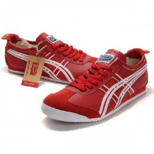 Pour Acheter YG5148 Solde1328s Asics Onitsuka Tiger Mexico 66 Chaussures Blanc Rouge 15343827 Pas Cher