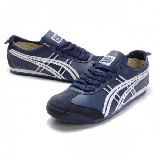 Pour Acheter QK4278 Soldes Asics 1431Onitsuka Tiger Mexico 66 Chaussures Hommes Bleu Blanc 86284935 Pas Cher
