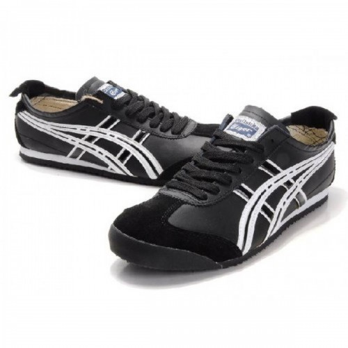 Pour Acheter XM5529 Soldes Asics Onitsuka Tiger Mexico1322 66 Chaussures Hommes Noir Blanc 75330425 Pas Cher