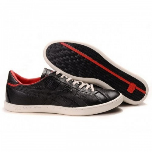 Pour Acheter PW9301 Soldes Asics Onitsuka Ti1774ger Seck Lo Chaussures Rouge Noir 77587491 Pas Cher