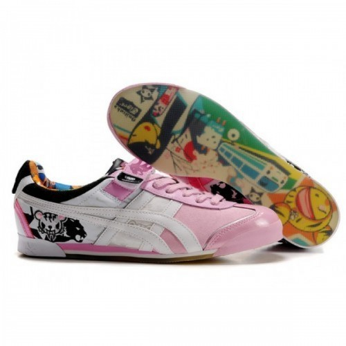 Pour Acheter DQ60671019 Soldes Asics Onitsuka Tiger Tokidoki Mex Lo Chaussures Noir Blanc Rose 27448961 Pas Cher