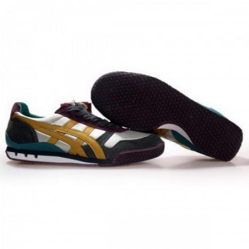 Pour Acheter YX6558 Soldes Asics Onitsuka Tiger Ultimes 813141 Chaussures Argent Vert Jaune 19120232 Pas Cher