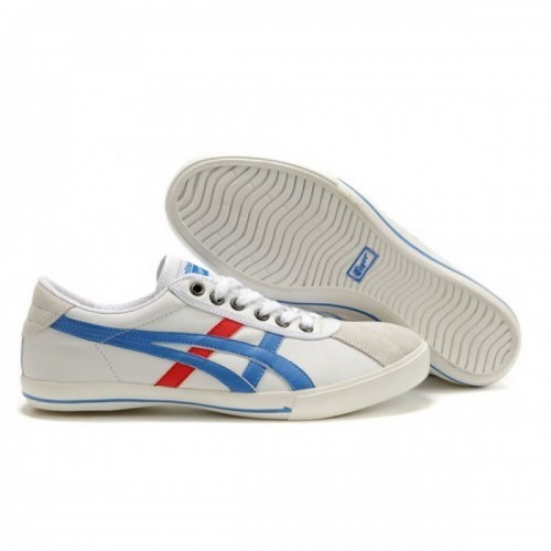 Pour Acheter DH7063 Soldes Asics Rotation 77 Chaussures Blanc Bleu Rouge 021719650380 Pas Cher