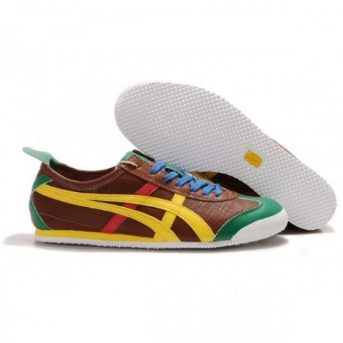 Pour Acheter OE8574 Soldes Asics T1938iger Mexico 66 Lauta Chaussures Brown Jaune Rouge Gree 60839682 Pas Cher