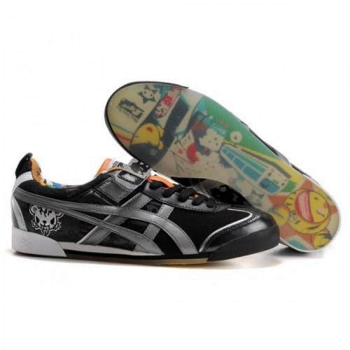Pour Acheter QB6566 1319Soldes Asics Tokidoki Mex Lo chaussures noires Orange Argent 94659148 Pas Cher