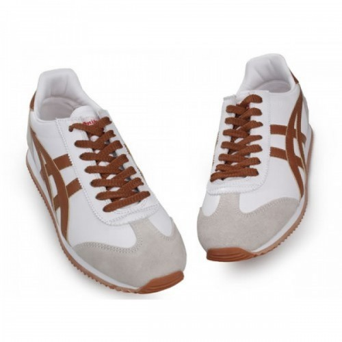 Pour Acheter UP7455 Chaussures Soldes Asics Cali1031fornia Femmes Blanc Beige Brown 37396328 Pas Cher