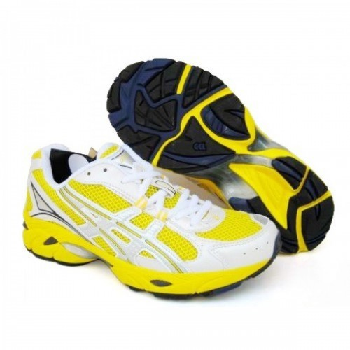 Pour Acheter NW6244 Chaussures Soldes Asics Gel DuoMax Jaune Blanc 168116315799 Pas Cher
