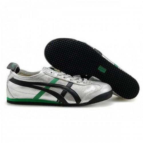 Pour Acheter PS5425 Chaussures Soldes Asics Onitsuka Tiger Mexico 66 Femmes Argent Noir Ver1098t 81084567 Pas Cher