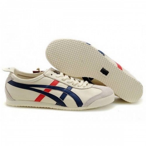 Pour Acheter SI8478 Chaussures Soldes Asics Onitsuka Tiger Mex1086ico 66 Femmes Beige Bleu Rouge 18839029 Pas Cher