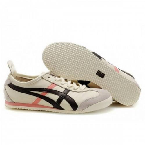 Pour Acheter QL7298 Chaussures Soldes Asics Onitsuka Tiger 1542Mexico 66 Femmes Beige Marron Rose 47785179 Pas Cher