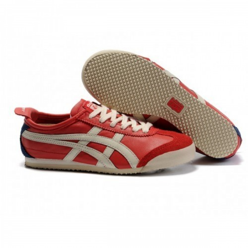 Pour Acheter JC71557350 Chaussures Soldes Asics Onitsuka Tiger Mexico 66 Femmes Rouge Marine Beige 42656696 Pas Cher
