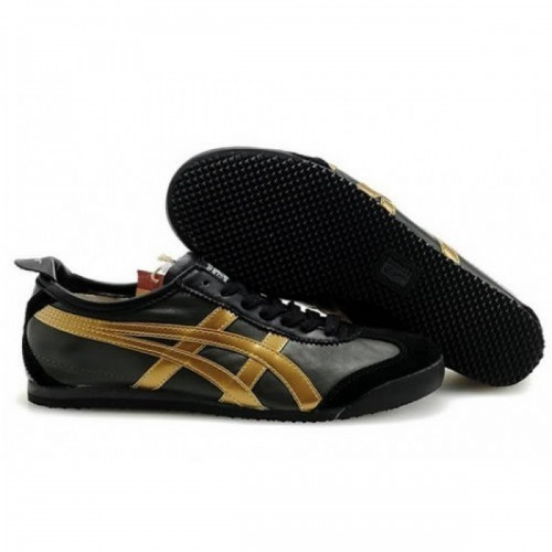 Pour Acheter FZ6737 Chaussures Soldes Asics Onitsuka T1541iger Mexico 66 Womens Black Gold 91531008 Pas Cher